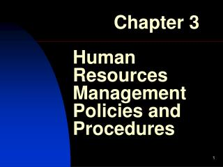 Human Resources Management Policies and Procedures