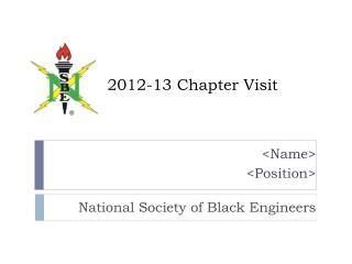 2012-13 Chapter Visit