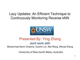 Lazy Updates: An Efficient Technique to Continuously Monitoring Reverse kNN