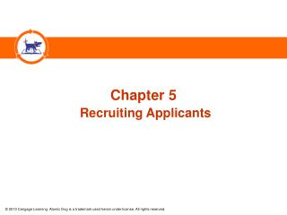 Chapter 5 Recruiting Applicants