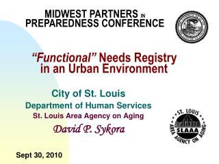 """""""Functional""""  Needs Registry  in an Urban Environment"""
