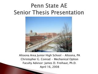 Penn State AE Senior Thesis Presentation