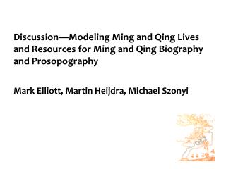 Part I: What is new about Ming-Qing? Quantitative expansion in biographic sources