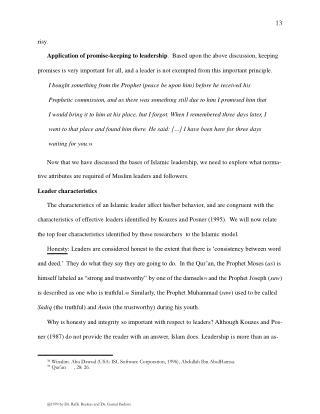 @1999 by Dr. Rafik Beekun and Dr. Gamal Badawi.