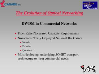 The Evolution of Optical Networking