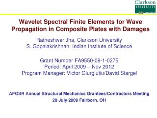Wavelet Spectral Finite Elements for Wave Propagation in Composite Plates with Damages