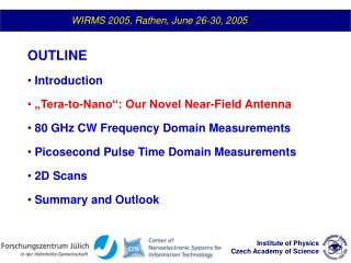 WIRMS 2005, Rathen, June 26-30, 2005