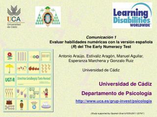 Universidad de Cádiz Departamento de Psicología uca.es/grup-invest/psicologia
