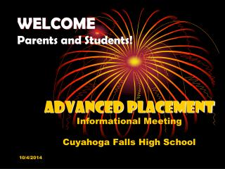 WELCOME Parents and Students!