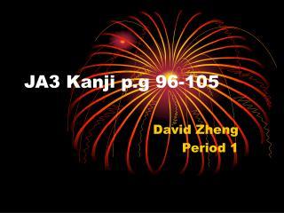 JA3 Kanji p.g 96-105