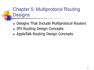 Chapter 5: Multiprotocol Routing Designs