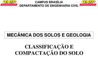 MECÂNICA DOS SOLOS E GEOLOGIA
