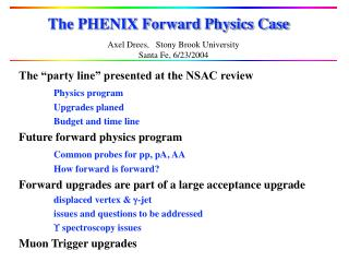 The PHENIX Forward Physics Case