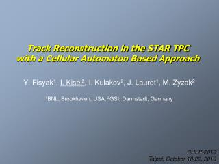Track Reconstruction in the STAR TPC  with a Cellular Automaton Based Approach
