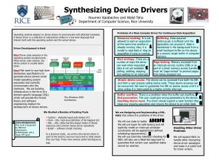 Synthesizing Device Drivers