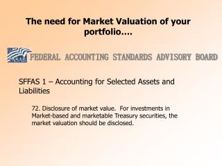 The need for Market Valuation of your portfolio .