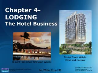 Chapter 4-LODGING The Hotel Business