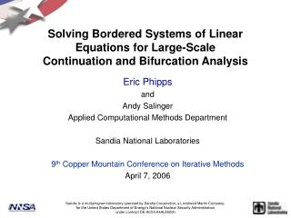 Solving Bordered Systems of Linear Equations for Large-Scale Continuation and Bifurcation Analysis