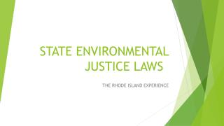 STATE ENVIRONMENTAL JUSTICE LAWS