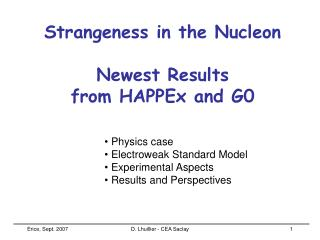 Strangeness in the Nucleon Newest Results  from HAPPEx and G0