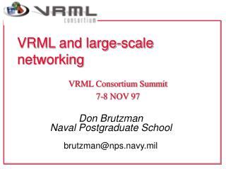 VRML and large-scale networking