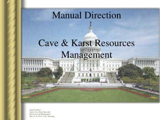 Manual Direction Cave & Karst Resources Management