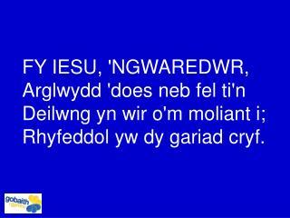 FY IESU, 'NGWAREDWR, Arglwydd 'does neb fel ti'n Deilwng yn wir o'm moliant i;