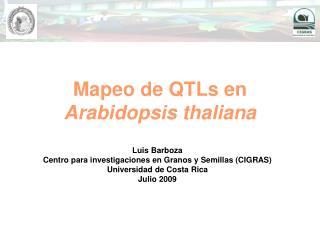 Mapeo de QTLs en  Arabidopsis thaliana