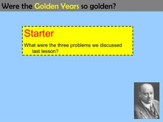 Starter What were the three problems we discussed last lesson?