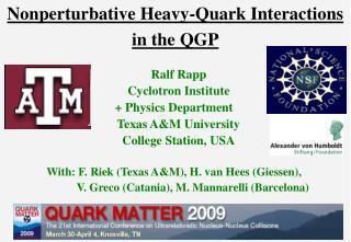 Nonperturbative Heavy-Quark Interactions in the QGP