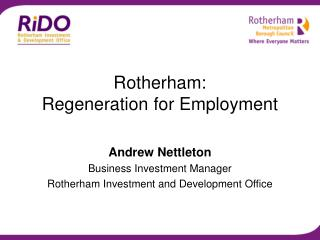 Rotherham:  Regeneration for Employment