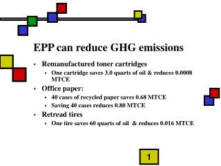 EPP can reduce GHG emissions