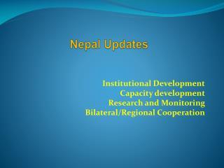 Nepal Updates