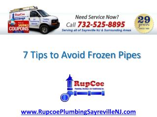 7 Tips to Avoid Frozen Pipes