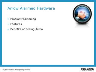 Arrow Alarmed Hardware