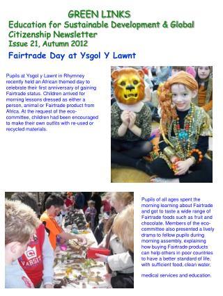 GREEN LINKS Education for Sustainable Development & Global Citizenship Newsletter