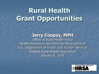 Rural Health Grant Opportunities