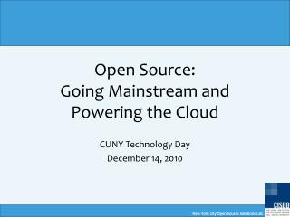 New York City Open Source Solutions Lab
