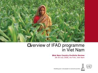 Overview of IFAD programme  in Viet Nam