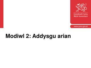 Modiwl 2: Addysgu arian