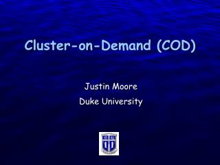 Cluster-on-Demand (COD)