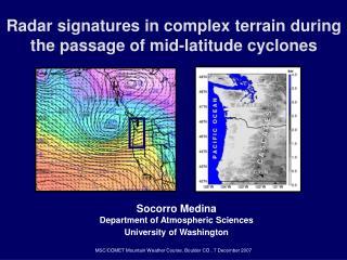 Radar signatures in complex terrain during the passage of mid-latitude cyclones