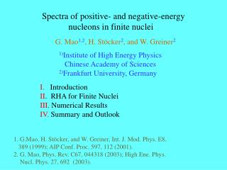 Spectra of positive- and negative-energy              nucleons in finite nuclei