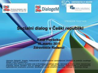 Socialni dialog v Češki republiki