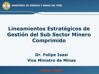 Lineamientos Estratégicos de Gestión del Sub Sector Minero Comprimido