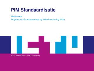 PIM Standaardisatie