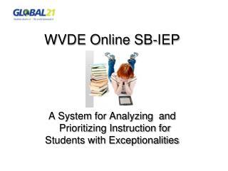 WVDE Online SB-IEP