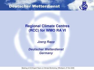 Joerg Rapp Deutscher Wetterdienst Germany