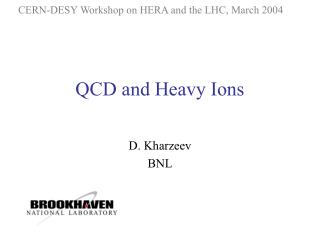 QCD and Heavy Ions