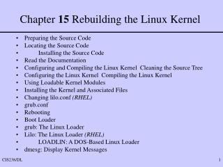 Chapter  15  Rebuilding the Linux Kernel